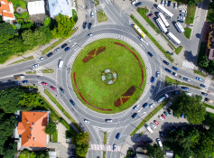 NEW MARKING AT VILNIUS ROUNDABOUTS